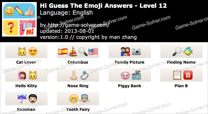 Hi Guess the Emoji Level 12