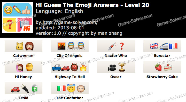 Hi Guess the Emoji Level 20