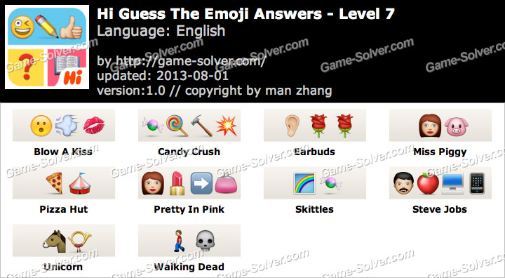 Hi Guess the Emoji Level 7