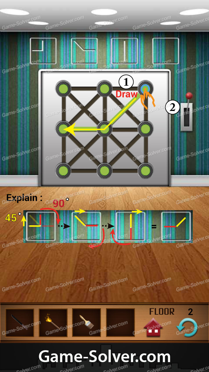 100 floors annex level 2 game solver