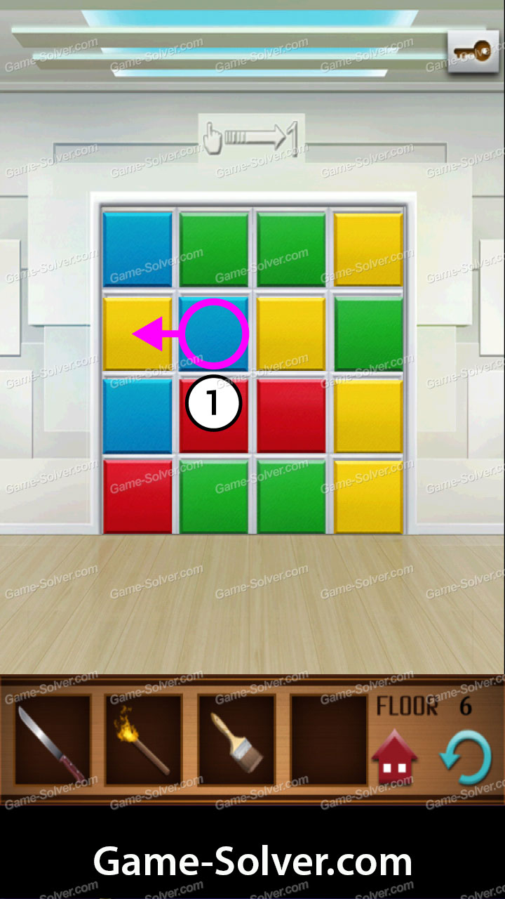 100 Floors Annex Level 6 Game Solver