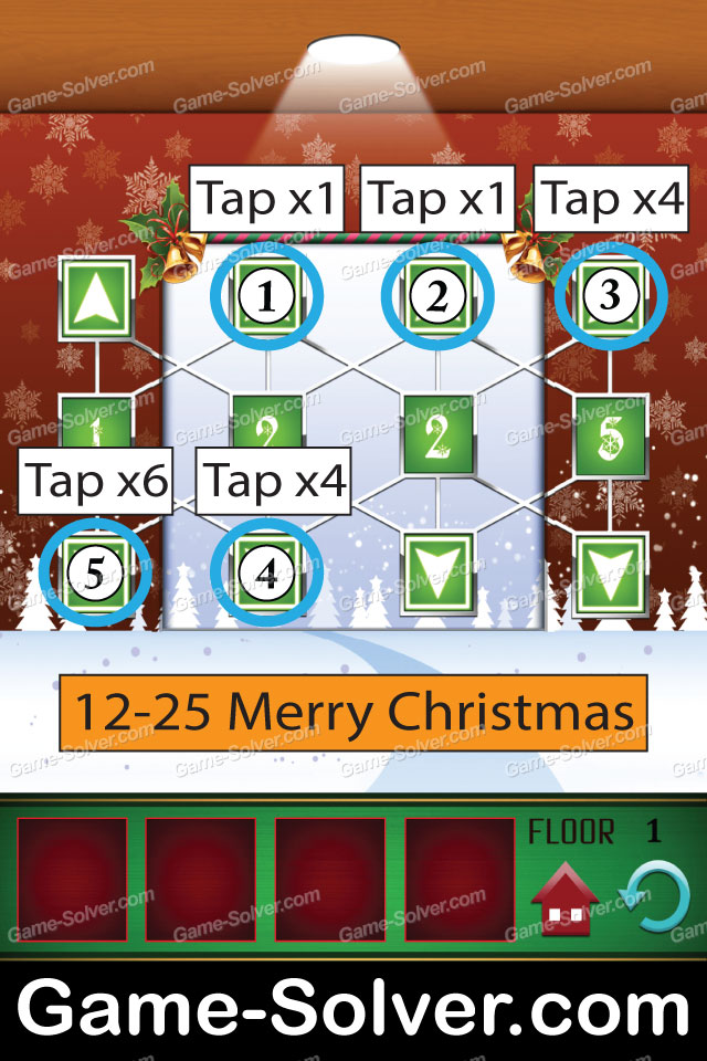 100 Floors Seasons Tower Christmas Walkthrough - Game Solver