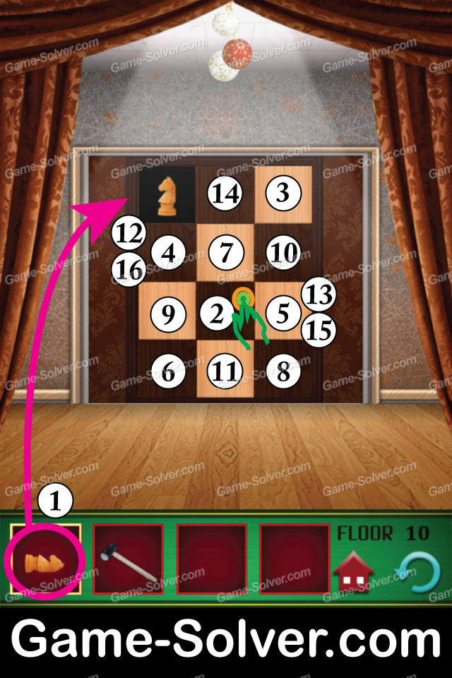 100 floors seasons tower christmas level 10 game solver