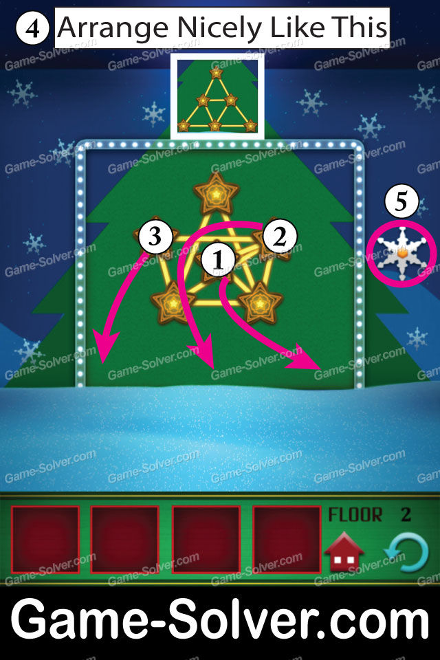 100 Floors Seasons Tower Christmas Level 2 Game Solver