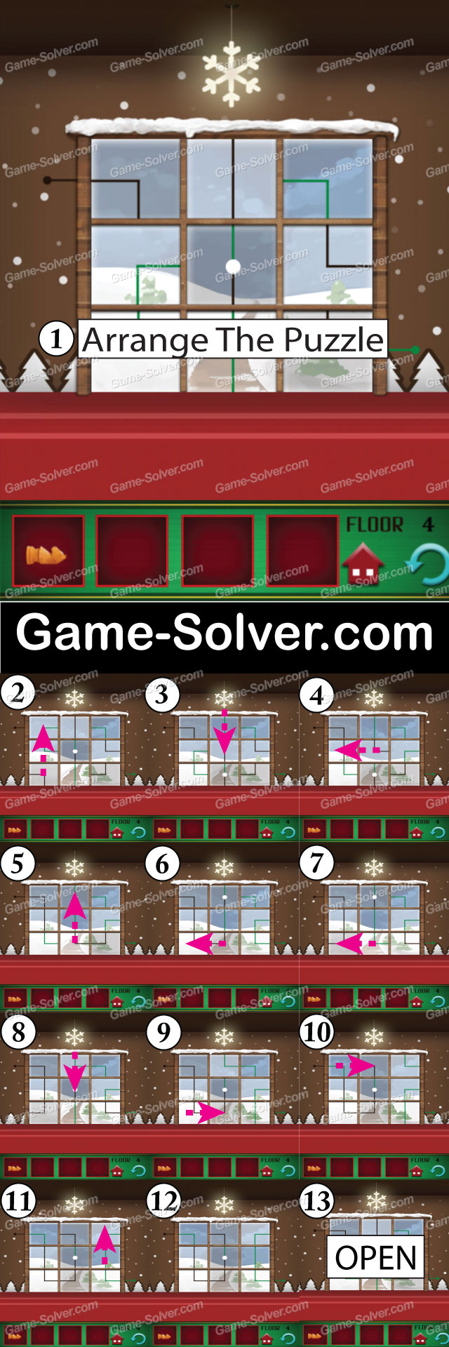 100 Floors Seasons Tower Christmas Level 4 Game Solver