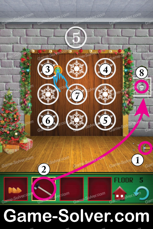 100 Floors Seasons Tower Christmas Level 5 Game Solver