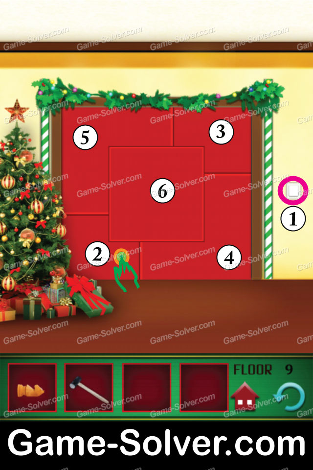 100 Floors Seasons Tower Christmas Level 9 Game Solver