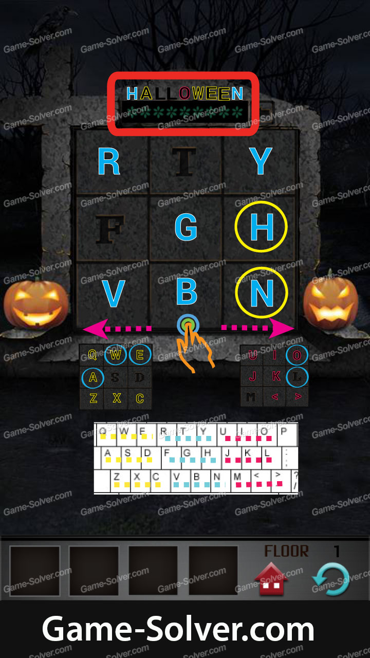 100 Floors Halloween Level 1 Walkthrough