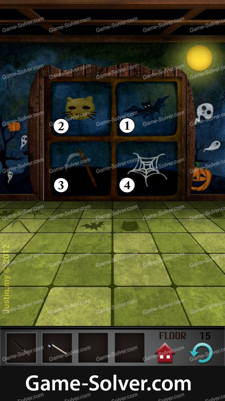 100 Floors Seasons Tower Halloween Level 15 Game Solver