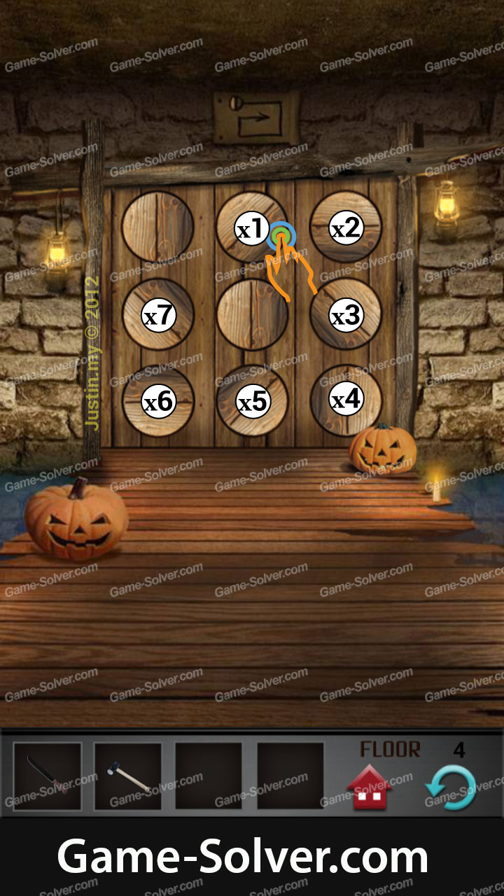 100 Floors Seasons Tower Halloween Level 4 Game Solver