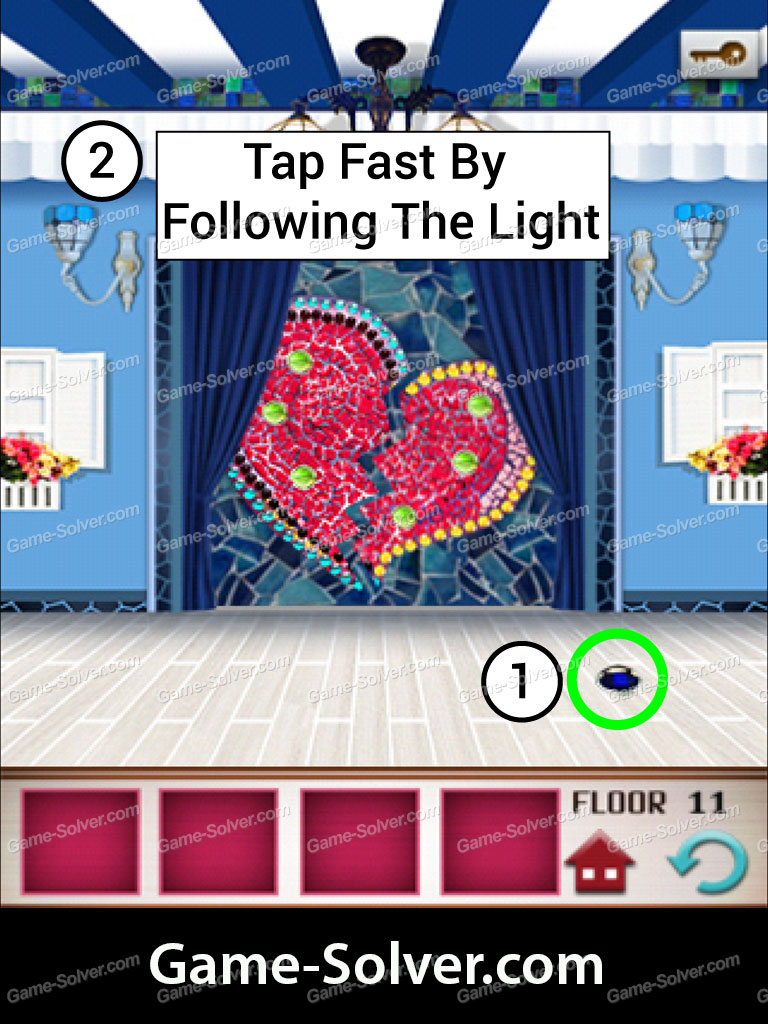 100 floors seasons tower valentines level 11 game solver For100 Floors Valentines Floor 11