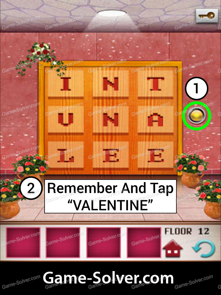 100 floors seasons tower valentines level 12 game solver
