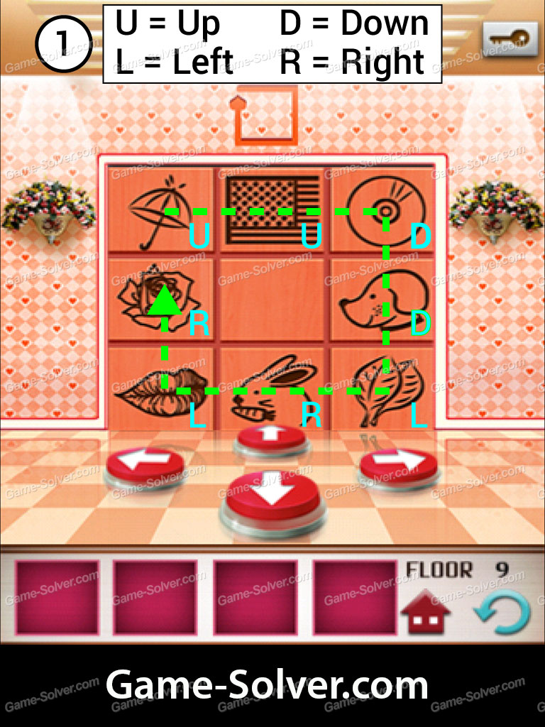100 Floors Seasons Tower Valentines Level 9 Game Solver