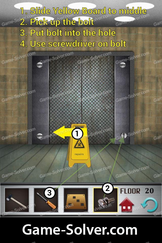 100 Floors Level 20 Game Solver