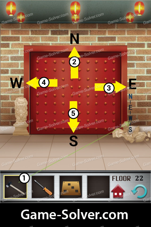 100 floors level 22 game solver for 100 floor level 17 answers
