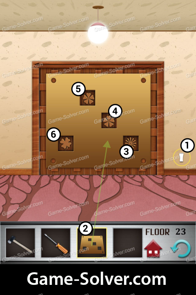 100 floors level 23 game solver