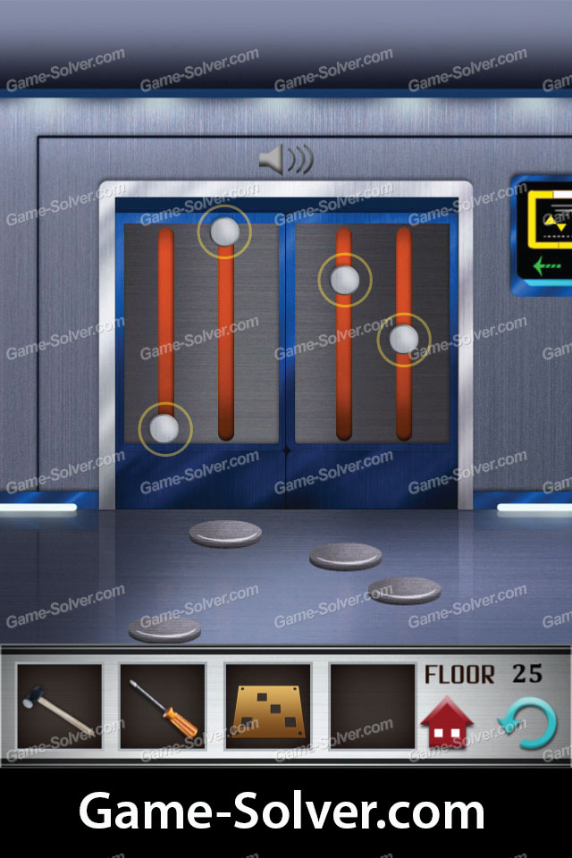 100 Floors Level 25 Game Solver