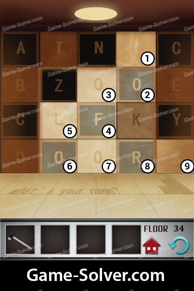 100 Floors Level 34 Game Solver
