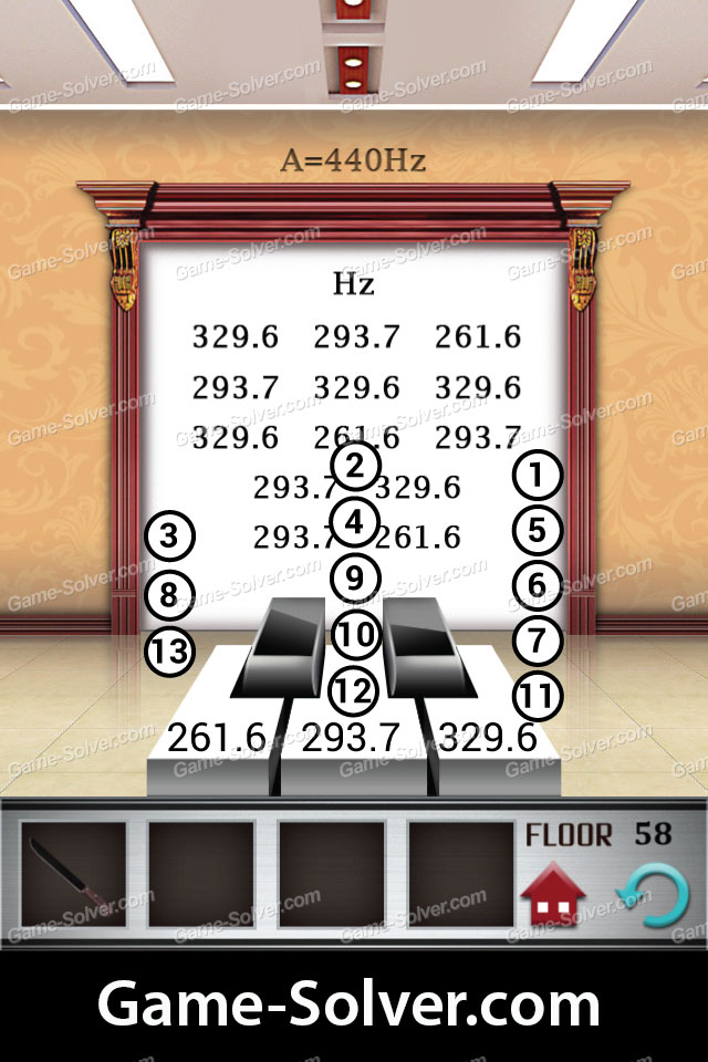 100 floors level 58 game solver for Floor 4 100 floors
