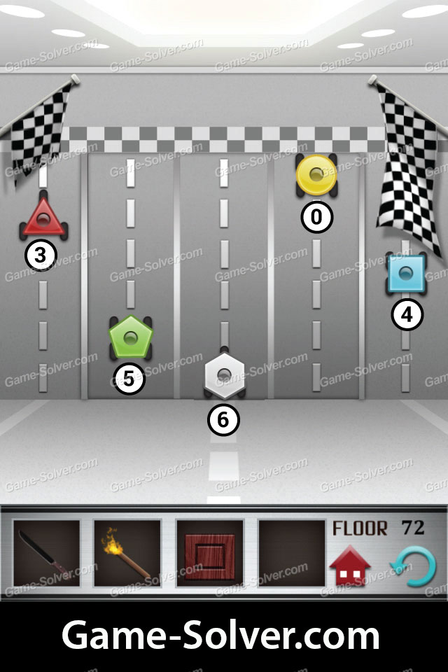 100 Floors Level 72 Game Solver
