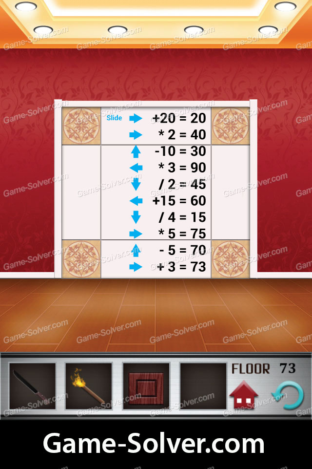 100 floors level 73 game solver for 100 floors 17th floor answer