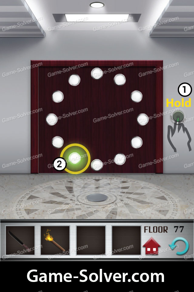 100 floors level 77 game solver
