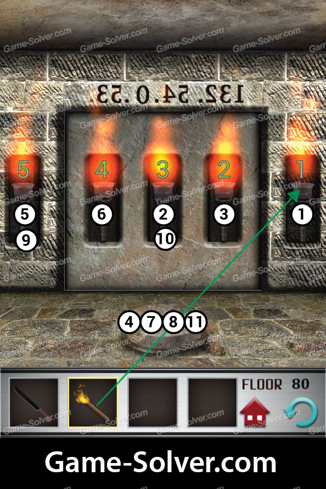 100 floors level 80 game solver for 100 floors 17th floor answer