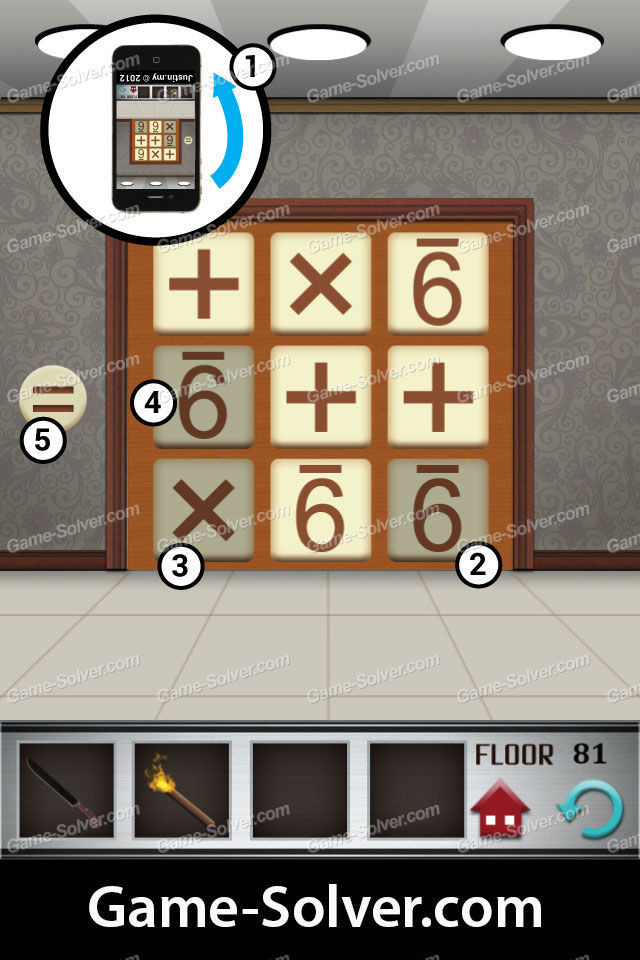 100 floors level 81 game solver for 100 floors 17th floor answer
