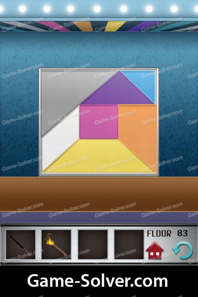 100 Floors Level 83 Game Solver