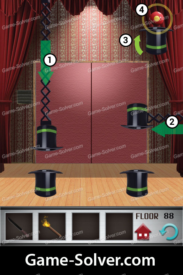 100 Floors Cheats Level 10