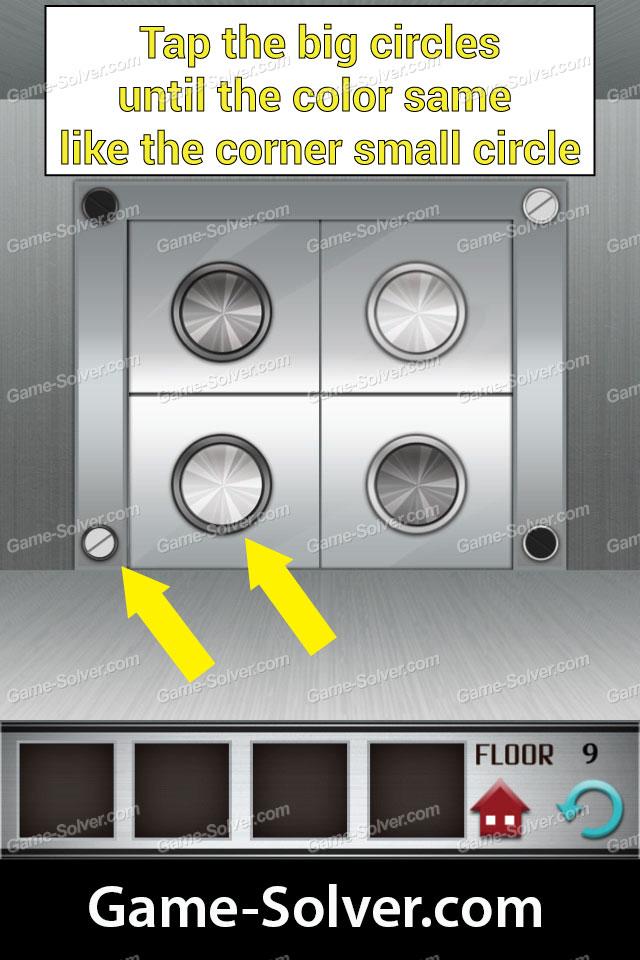100 Floors Level 9 Game Solver