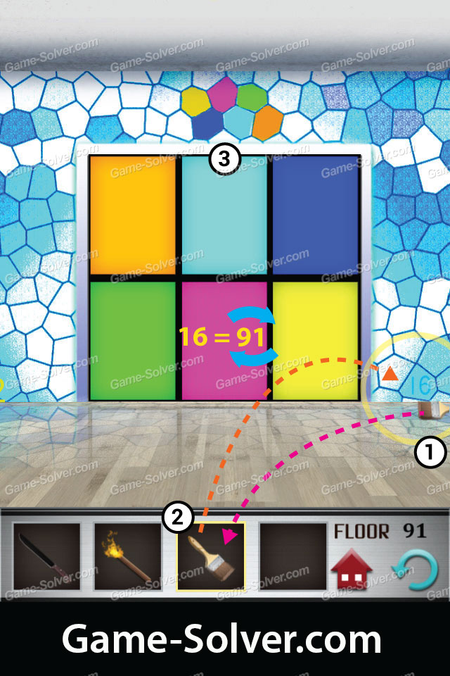 100 floors level 91 game solver for 100 levels floor 34