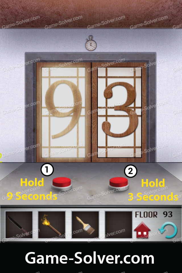 100 floors level 93 game solver