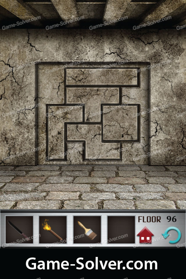 100 Floors Level 96 Game Solver