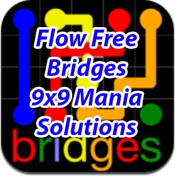 Flow Bridges 9x9 Mania Level 115
