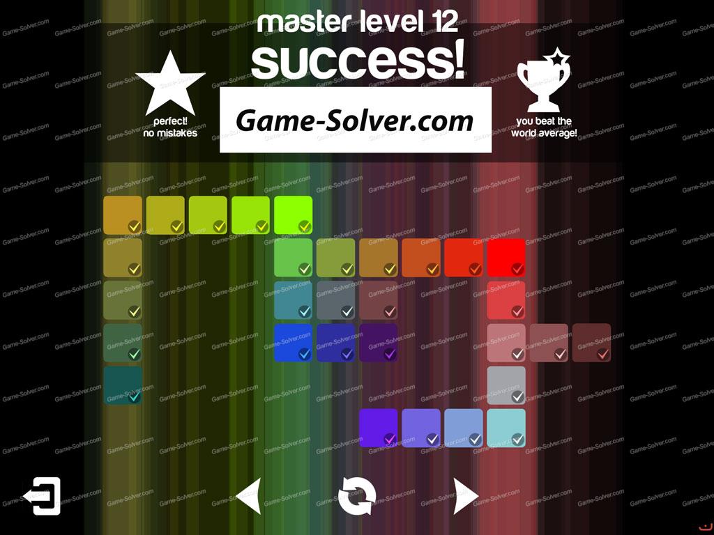 Blendoku master pack level 12 game solver for Level master
