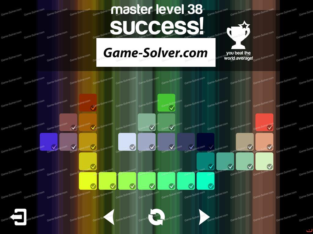 Blendoku master pack level 38 game solver for Level master