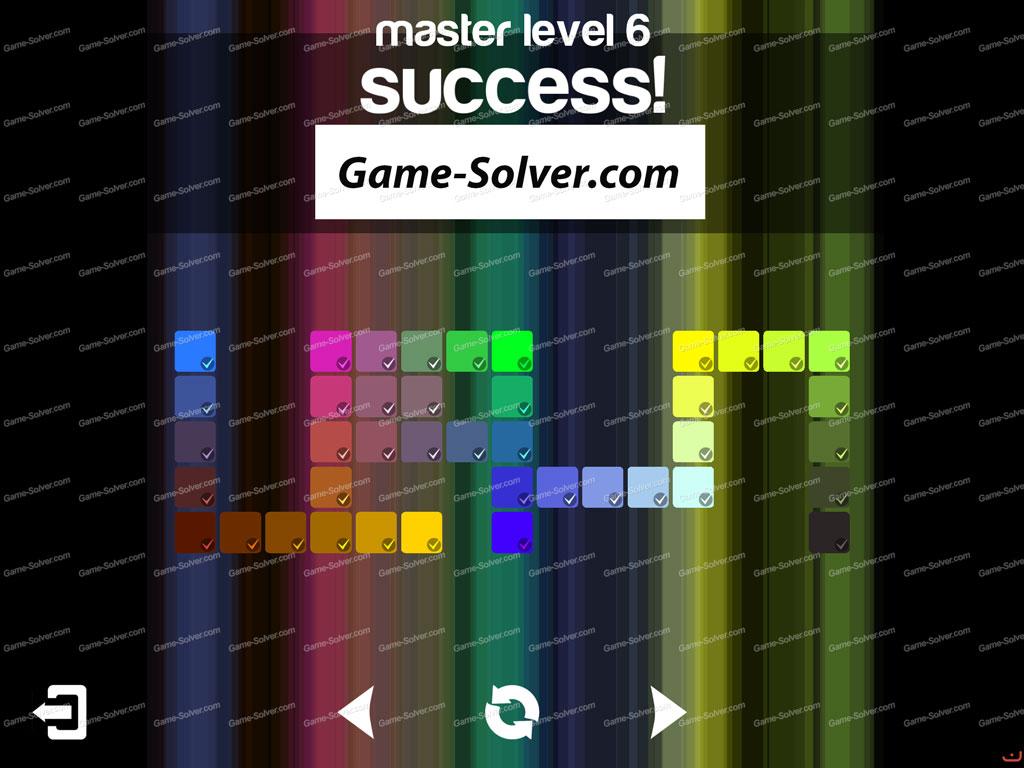 Blendoku master pack level 6 game solver for Level master