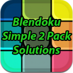 Blendoku Simple 2 Pack Solutions