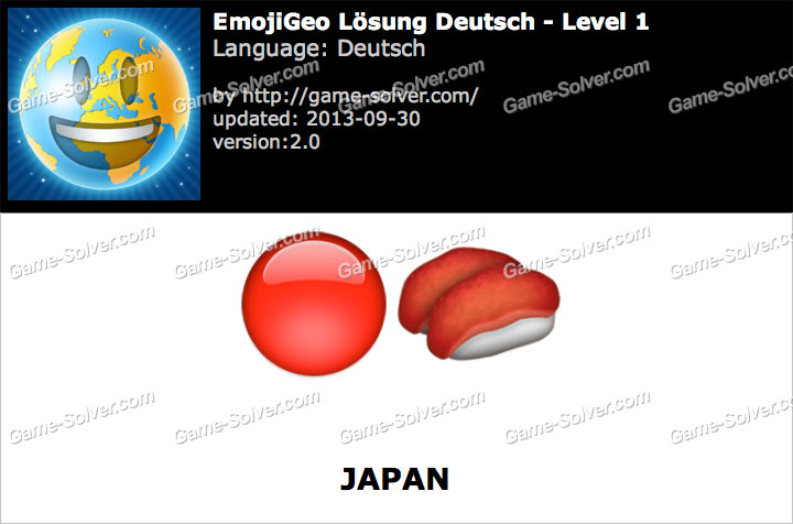 EmojiGeo Deutsch Level 1