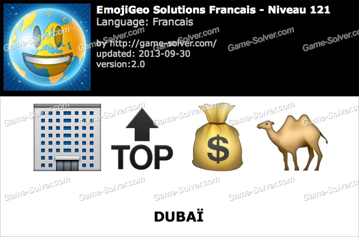EmojiGeo Francais Niveau 121