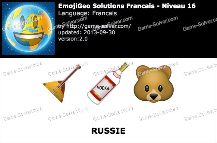 EmojiGeo Francais Niveau 16