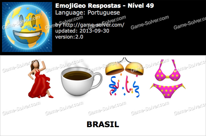 EmojiGeo Portuguese Nível 49