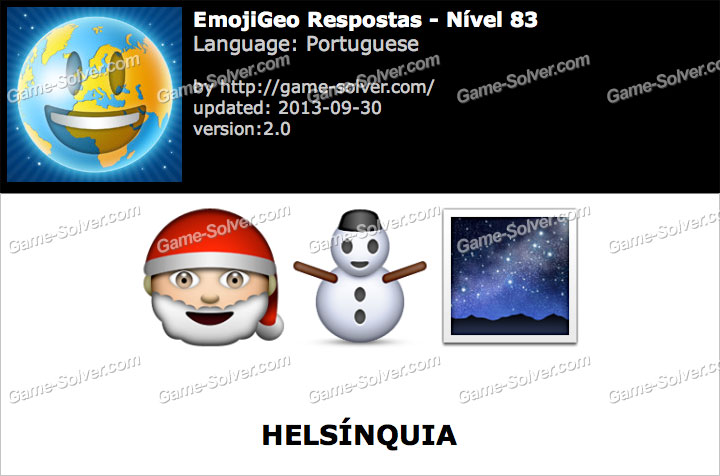 EmojiGeo Portuguese Nível 83