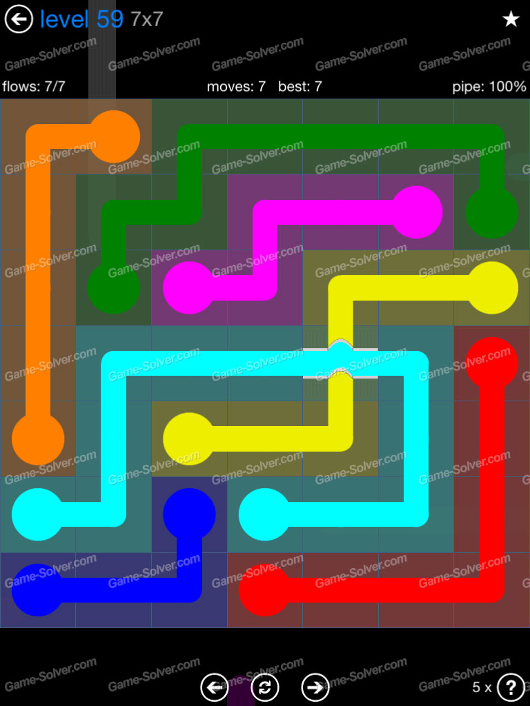 Flow Bridges Challenge Pack 7x7 Level 59