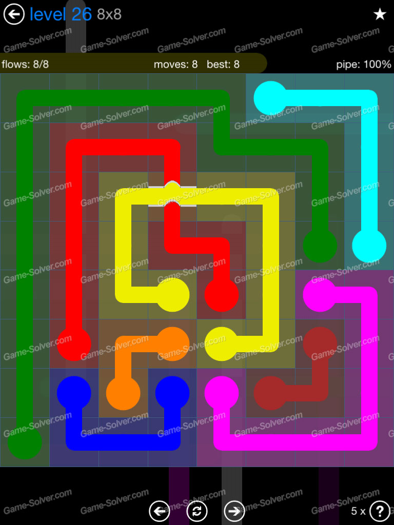 Flow Bridges Challenge Pack 8x8 Level 26