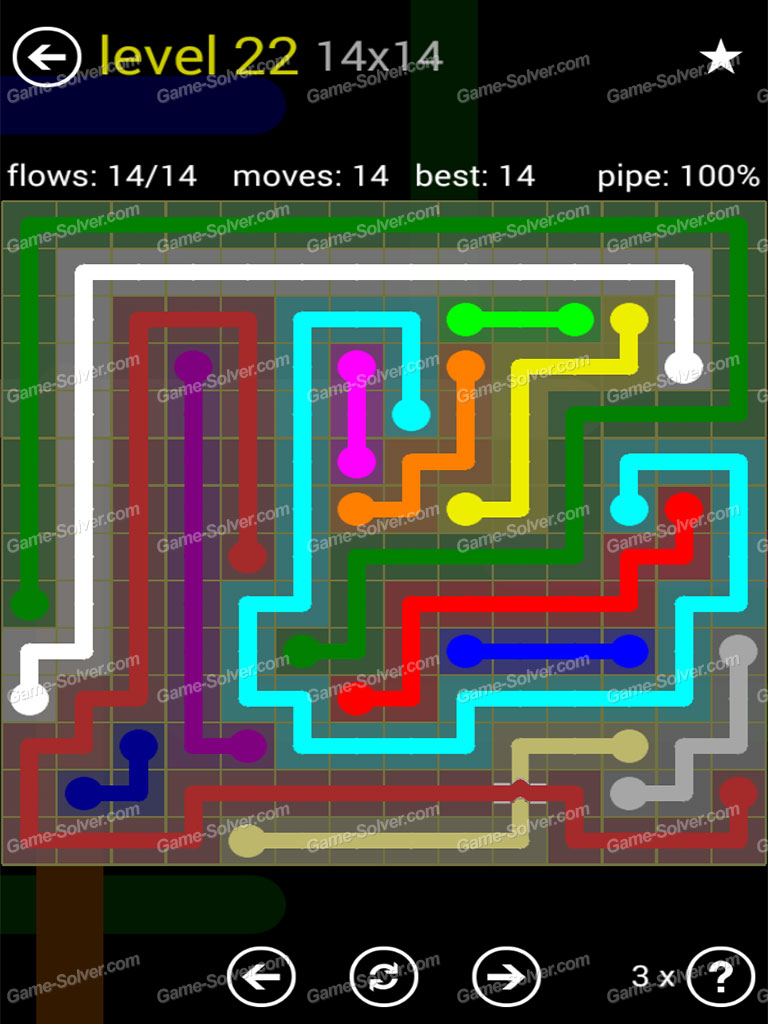 Flow Bridges Yellow Pack 14x14 Level 22