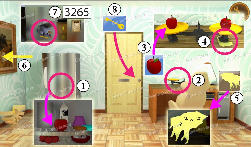 92 pink living room escape game walkthrough girls for Minimalist house escape walkthrough