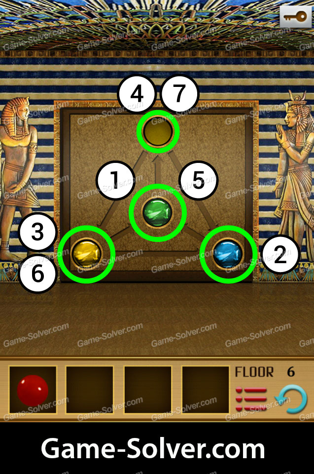 100 Floors World Tour Egypt Pack Level 6 Game Solver
