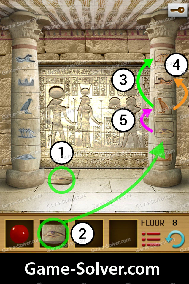 100 Floors World Tour Egypt Pack Level 8 Game Solver